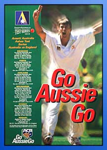 POSTER - TEST CRICKET SERIES 1998-99